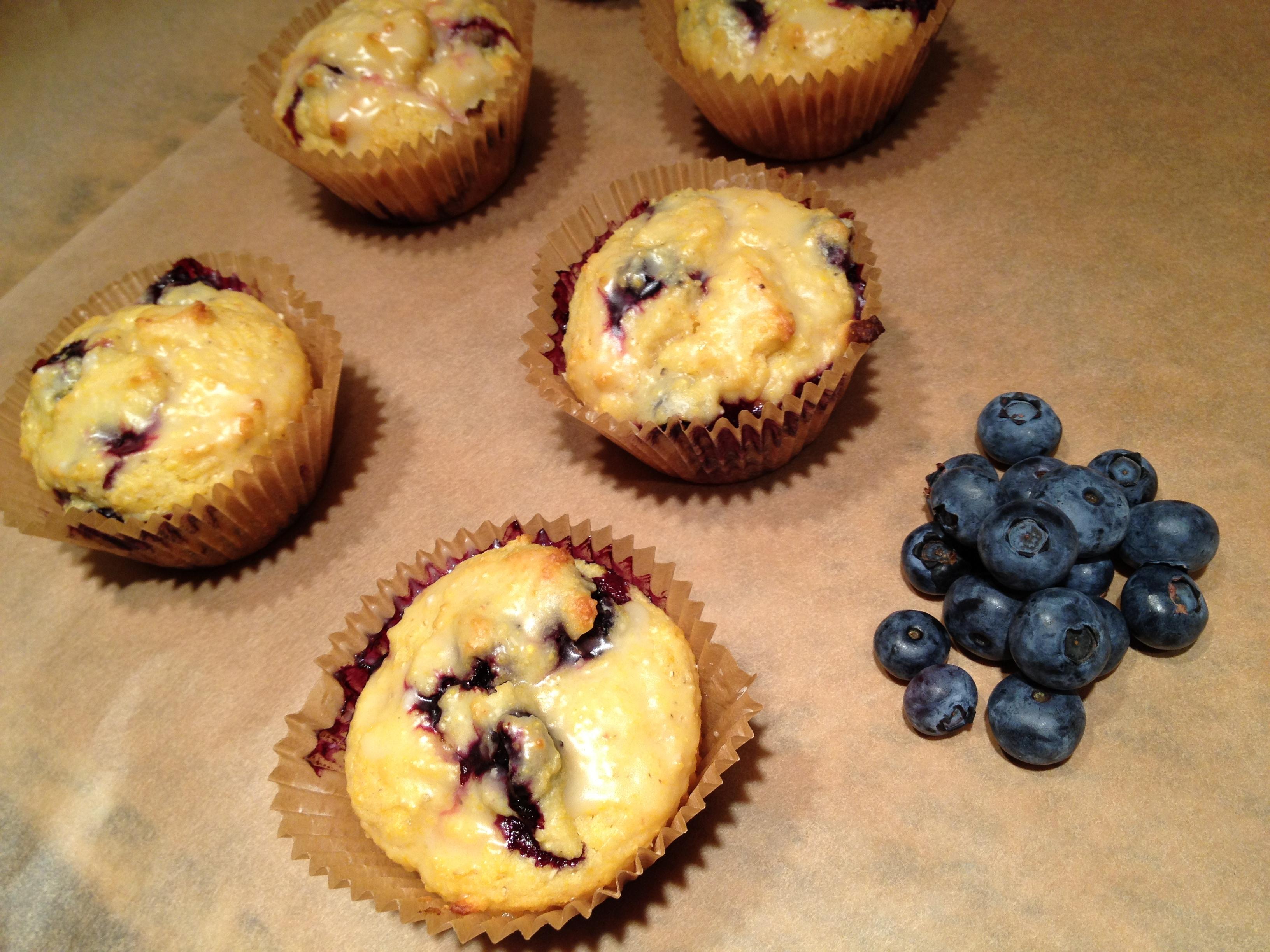 Blueberry + Orange Cornmeal Muffins (my new brunch staple!)